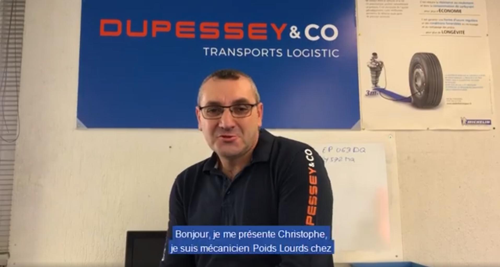 Christophe, mécanicien Poids Lourds chez Dupessey&Co